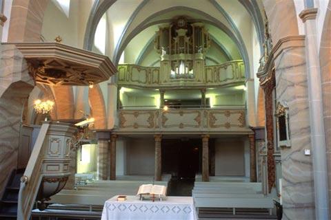 Innenansicht Kirche Wickrahtberg
